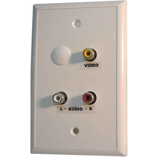 Energy Transformation Systems Baseband Video/Stereo Audio Wall Plate with 3 RCA Inputs (Ivory)