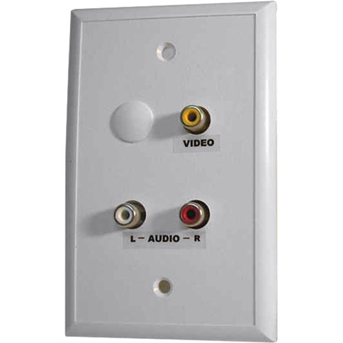 Energy Transformation Systems Baseband Video/Stereo Audio Wall Plate with 3 RCA Inputs (White)