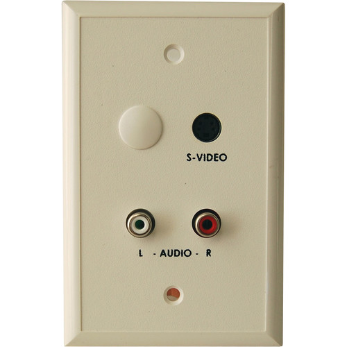 Energy Transformation Systems S-Video & RCA Stereo Audio Balun Wall Plate (Ivory)