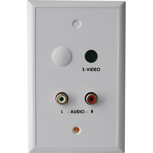 Energy Transformation Systems S-Video & RCA Stereo Audio Balun Wall Plate (White)