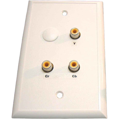 Energy Transformation Systems Component Video & Mono Audio Wall Plate with 4x RCA to RJ45 (Ivory)
