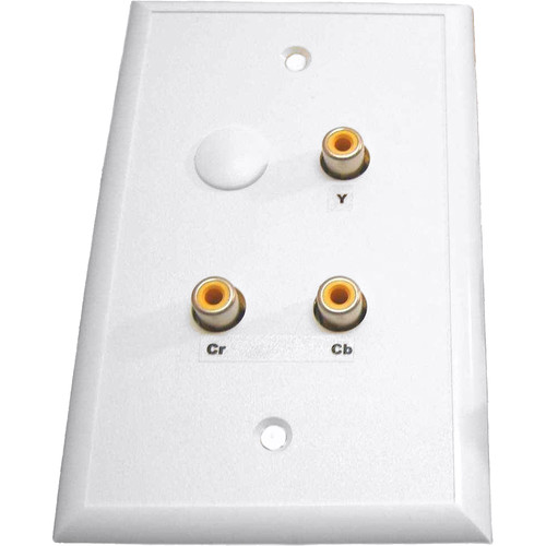 Energy Transformation Systems Component Video & Mono Audio Wall Plate with 4x RCA to RJ45 (White)