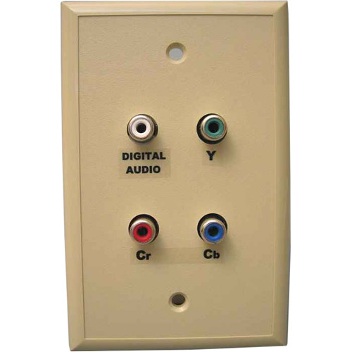Energy Transformation Systems Component Video & Dual Audio Wall Plate with 4x RCA to RJ45 (Ivory)