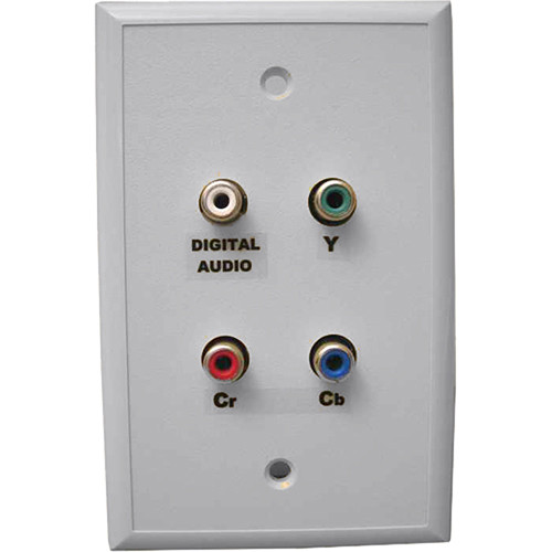 Energy Transformation Systems Component Video & Dual Audio Wall Plate with 4x RCA to RJ45 (White)