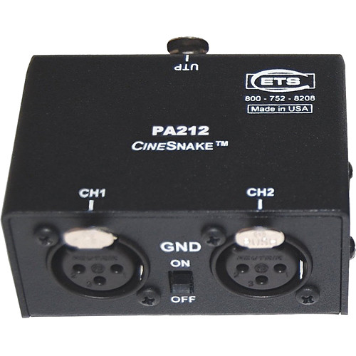 Energy Transformation Systems CineSnake PA212 2-Channel Audio Adapter Receiver with Female XLR Connectors