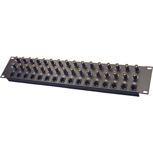 Energy Transformation Systems Isolated E1 Panel (16-Port, 32x BNC Female to 16x RJ45 Female, 75/120 Ohms)