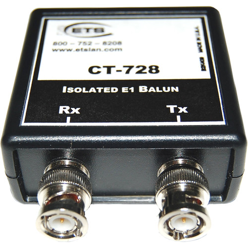 Energy Transformation Systems Isolated E1 Balun (2x BNC Male to RJ45 Female, 75/120 Ohms)