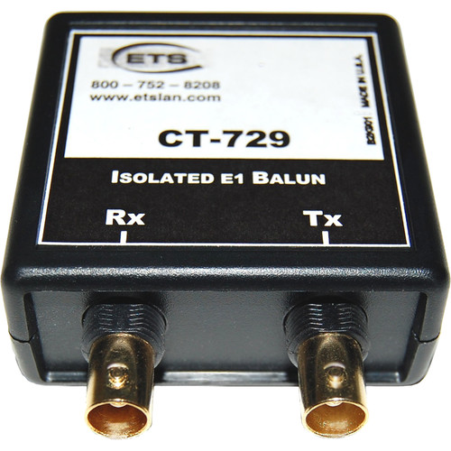 Energy Transformation Systems Isolated E1 Balun (2x BNC Female to RJ45 Female, 75/120 Ohms)