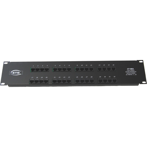 Energy Transformation Systems 32-Port RJ45 to 68-Pin SCSI Type III Low Speed Asynchronous Patch Panel (Ports 1-32)