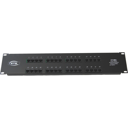 Energy Transformation Systems 32-Port RJ45 to 68-Pin SCSI Type III Low Speed Asynchronous Patch Panel (Ports 33-64)