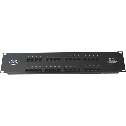Energy Transformation Systems 32-Port RJ45 to 68-Pin SCSI Type III Low Speed Asynchronous Patch Panel (Ports 65-96)