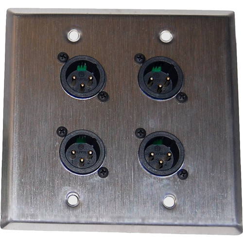 Energy Transformation Systems InstaSnake Wall Plate with 4x Male XLR to RJ45