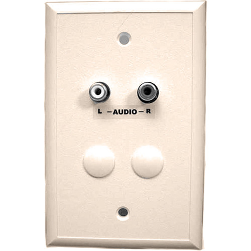 Energy Transformation Systems Analog Audio Adapter Wall Plate with 2x RCA Inputs (Ivory)