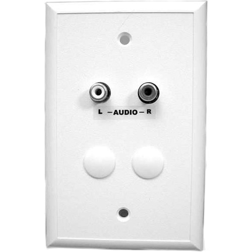 Energy Transformation Systems Analog Audio Adapter Wall Plate with 2x RCA Inputs (White)
