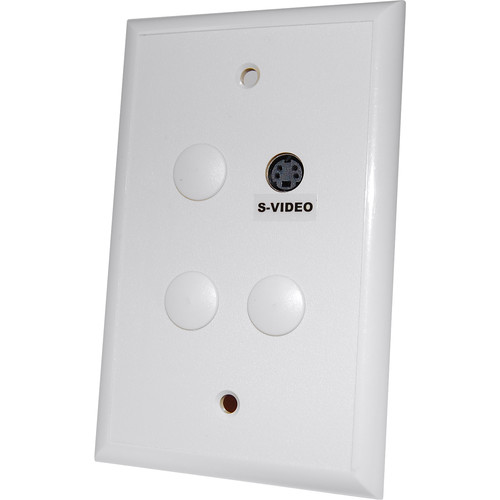 Energy Transformation Systems S-Video Balun Bidirectional Passive Wall Plate (White)