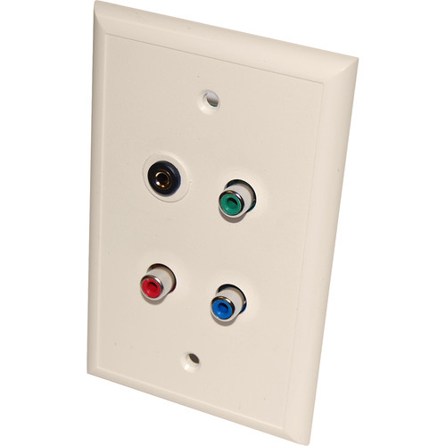Energy Transformation Systems Component Video & IR Wall Plate with 3.5mm & 3x RCA Inputs (Ivory)