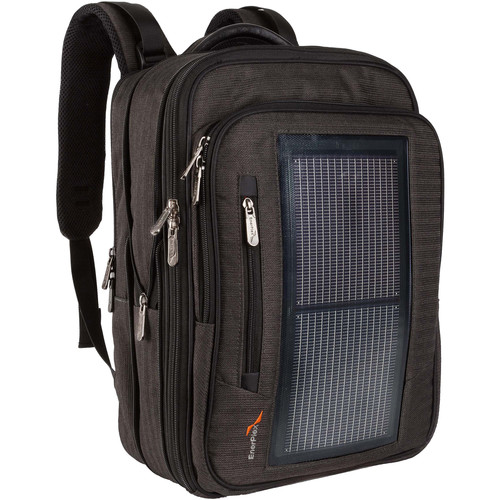 EnerPlex Packr Executive Solar-Powered Charging Backpack (Black)