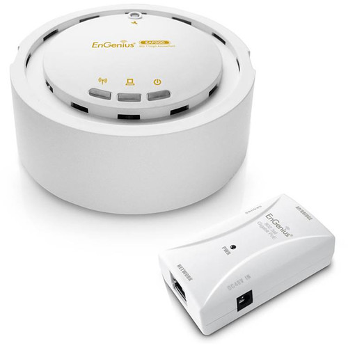 EnGenius EAP300 Wireless N300 Indoor Access Point + EPE-5818af 802.3af PoE Injector Kit