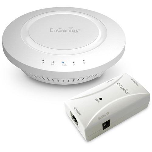 EnGenius EAP600 Wireless N600 Indoor Access Point Kit with EPE5818af Gigabit PoE Injector