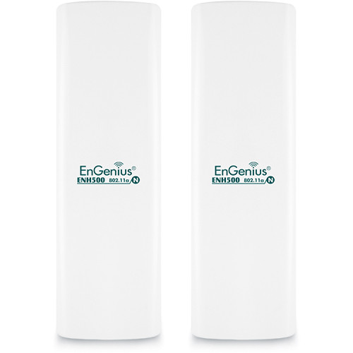 EnGenius ENH500 High-Powered, Long Range 5 GHz Wireless N300 Outdoor Client Bridge (2-Pack)