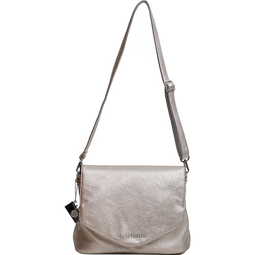 Epiphanie Charlotte Shoulder Bag (Metallic with Gray Interior)