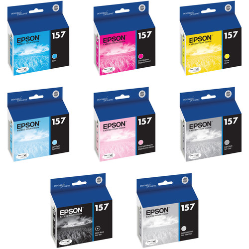 Epson 157 Eight Ink Cartridge Kit with Matte Black