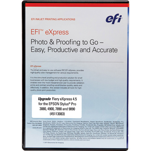 Epson Fiery EFI eXpress 4.5 Upgrade Kit DVD