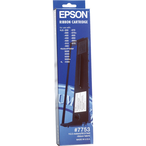 Epson 7753 Black Fabric Ribbon Cartridge