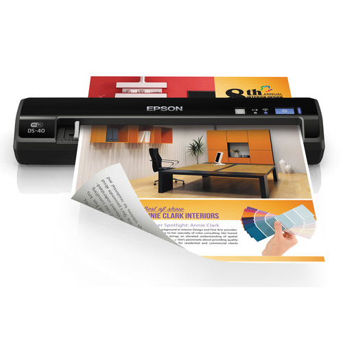 Epson WorkForce DS-40 Wireless Portable Color Document Scanner
