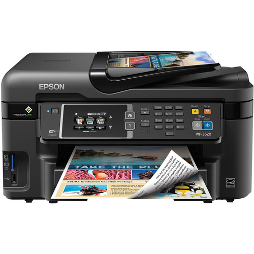 Epson WorkForce WF-3620 Wireless Color All-in-One Inkjet Printer