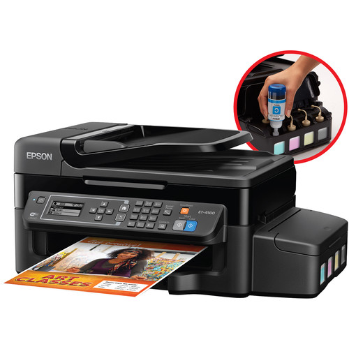 Epson WorkForce ET-4500 EcoTank All-in-One Inkjet Printer