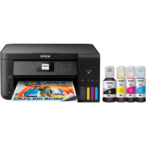 Epson Expression ET-2750 EcoTank All-In-One Inkjet Printer