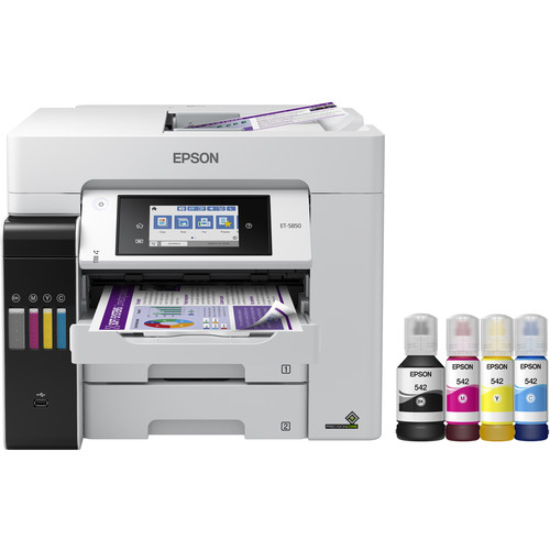 Epson EcoTank Pro ET-5850 All-in-One Cartridge-Free Supertank Printer