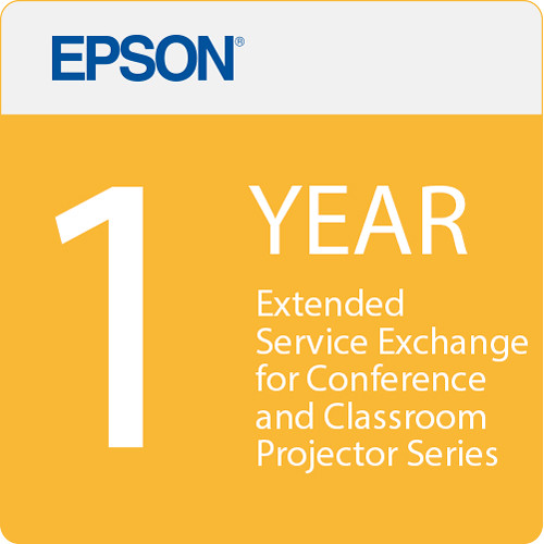 Epson 1 Year Projector Extended Service Exchange for Conference and Classroom Series