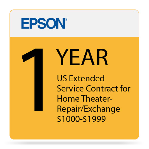 Epson 1-Year US Extended Service Contract for Home Theater Repair/Exchange ($1000-1999)