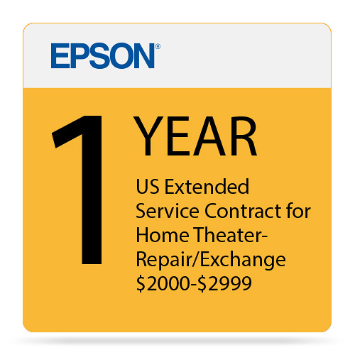 Epson 1-Year US Extended Service Contract for Home Theater Repair/Exchange ($2000-2999)