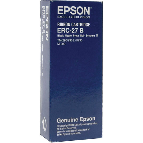 Epson ERC-27B Black Fabric Ribbon Cartridge for M-290 & TM-U295