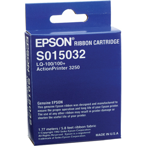Epson S015032 Black Fabric Ribbon Cartridge for ActionPrinter-3250