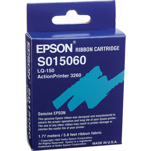 Epson S015060 Black Fabric Ribbon Cartridge for ActionPrinter-3260