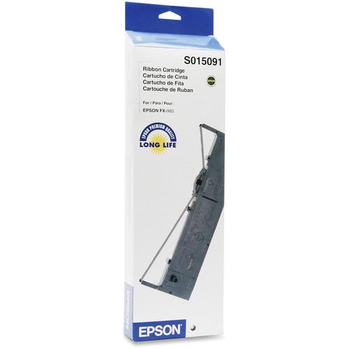 Epson S015091 Black Fabric Ribbon Cartridge for FX-980