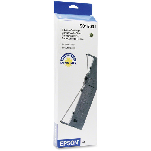Epson S015091 Black Fabric Ribbon Cartridge for FX-980