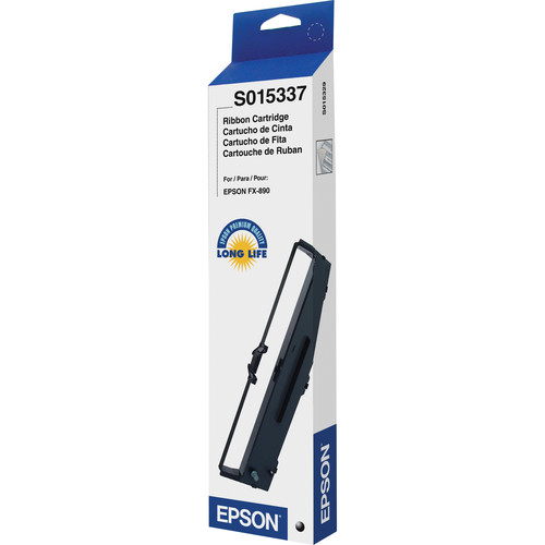 Epson S015337 Black Fabric Ribbon Cartridge