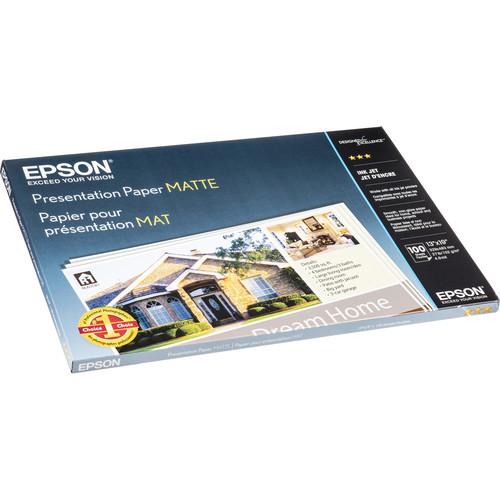 "Epson Presentation Paper Matte (13 x 19"", 100 Sheets)"