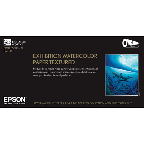 "Epson Exhibition Watercolor Paper Textured (44"" x 50' Roll)"