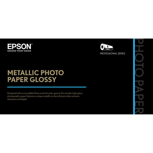 "Epson Metallic Photo Paper Glossy (36"" x 100', 1 Roll)"