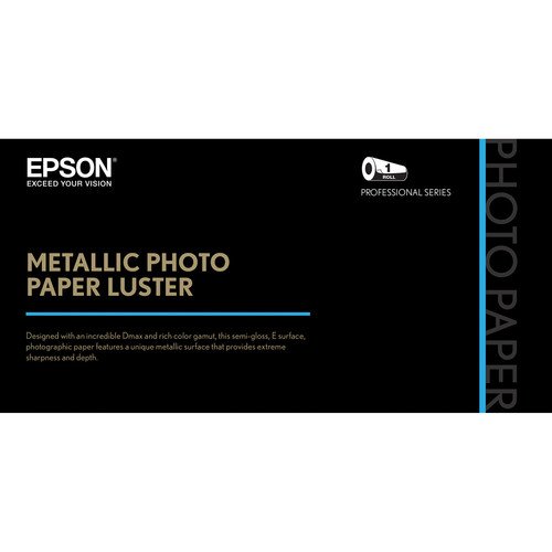 "Epson Metallic Photo Paper Luster (24"" x 100', 1 Roll)"