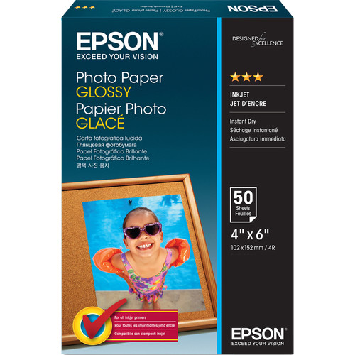 "Epson Value Photo Paper Glossy (4 x 6"", 50 Sheets)"