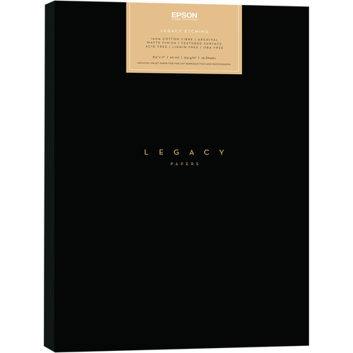"""Epson Legacy Etching Paper (8.5 x 11"""", 25 Sheets)"""