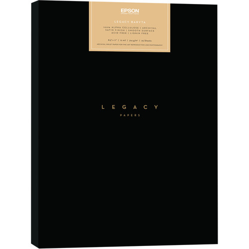 "Epson Legacy Baryta Paper (8.5 x 11"", 25 Sheets)"