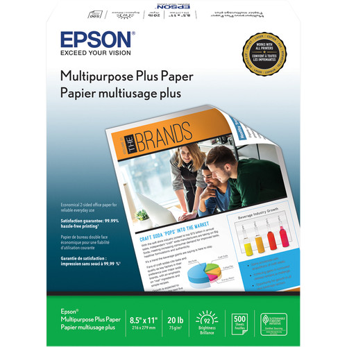 "Epson Multipurpose Plus Paper (8.5 x 11"", 500 Sheets)"